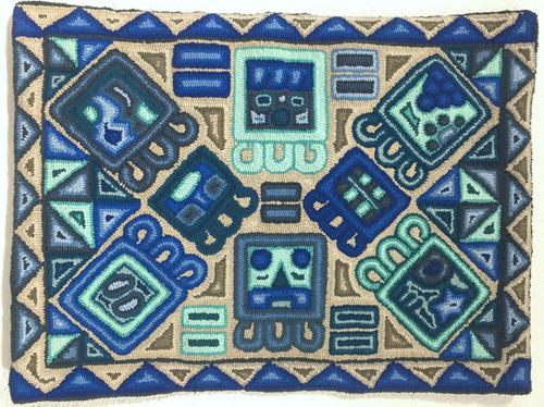 "Handmade Hooked Medium Rug by Lidia Guatemala (24"" x 32"")"