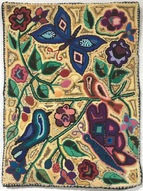"Handmade Hooked Medium Rug by Juana Guatemala (24"" x 32"")"