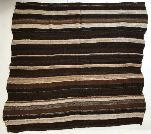 "Handwoven Woolen Blanket Frazada Natural  Peru (66"" x 66"")"
