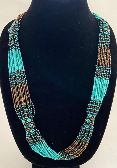 #1 turquoise, copper and black