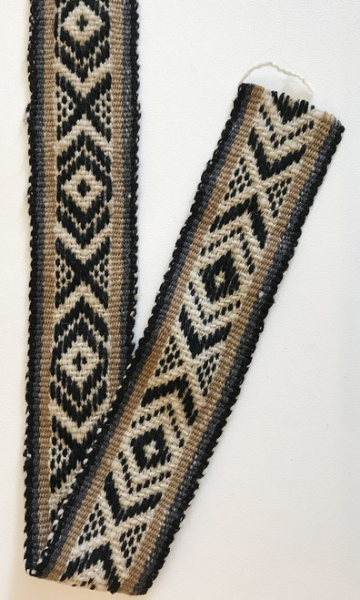 "Handwoven Vintage Wool Trim2  by the Yard Peru ( 2.5"" wide)"