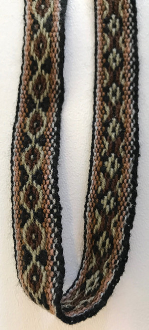 "Handwoven Vintage Wool Trim 7  by the Yard Peru ( 1.2"" wide x 36"")"