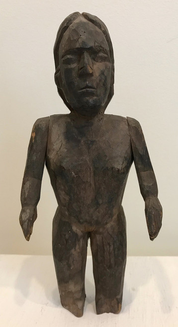 "Hand Carved Wooden Figure Guatemala (4.5"" x  9"")"