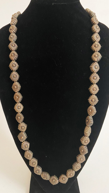 """Metal Cast Bead  Necklace India (17"""")"""