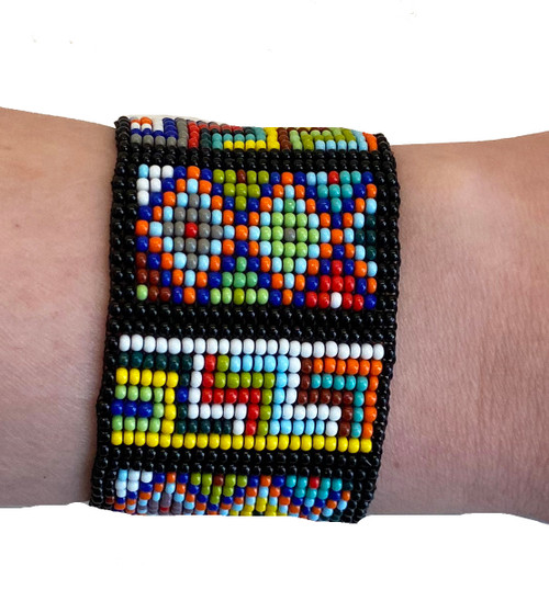 Handmade Woven Beaded Bracelet  Guatemala