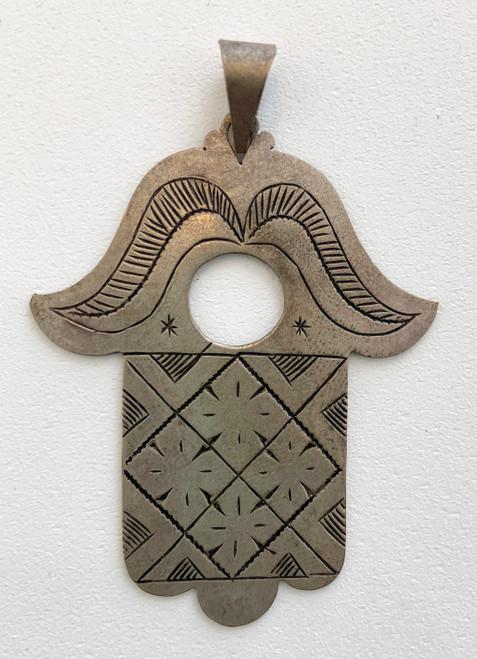 """Hand of Fatima Silver 3  Morocco (2.25"""" x 1.75"""")"""