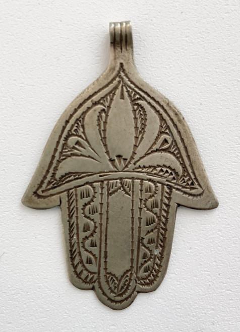 """Hand of Fatima Silver 5  Morocco (2.25"""" x 1.5"""")"""