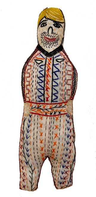 "Handmade Embroidered Man Doll  Guatemala (10"")"