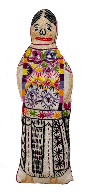 "Handmade Embroidered Doll 1 Guatemala (10"")"