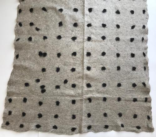 """Handmade Wool Felt Cloth B Afghanistan (55"""" x 54"""")"""