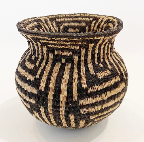 "Handmade Natural Fiber Wounaan Basket 1  Panama  (3.5"" wide x  2.5""tall)"
