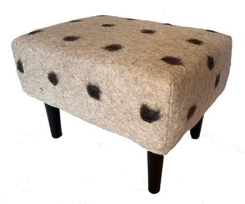 "Hand Felted Ottoman from Afghanistan ( 19"" x 25"")"