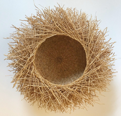 "Handmade Vetiver Basket Medium Madagascar (4.5"" x 11.5"")"