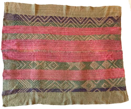 "Handwoven Woolen  Frazada Rug 4 Peru (56"" x 67"")"
