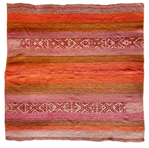"Handwoven Woolen  Frazada Rug 13 Peru (58"" x 57"")"