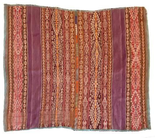 "Handwoven Vintage Woolen Blanket Manta of Peru (38"" x 42"")"