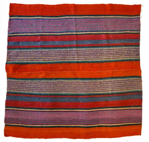 "Handwoven Woolen  Frazada Rug D Peru (59"" x 59"")"