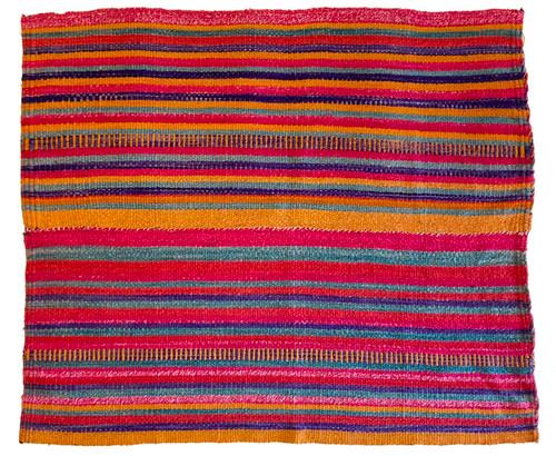 """Handwoven Woolen  Frazada Rug C Peru (54"""" x 64"""")"""