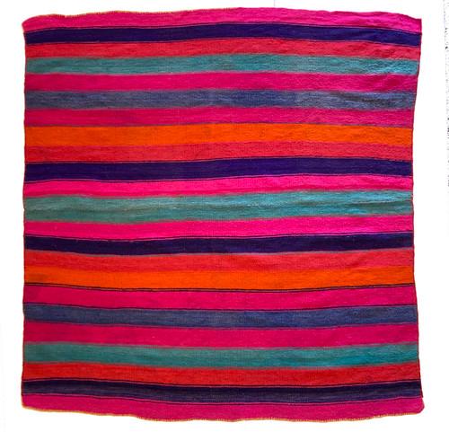 "Handwoven Woolen  Frazada Rug B Peru (62"" x 62"")"