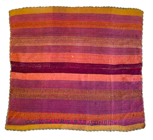 "Handwoven Woolen  Frazada Rug D-3 Peru (62"" x 70"")"