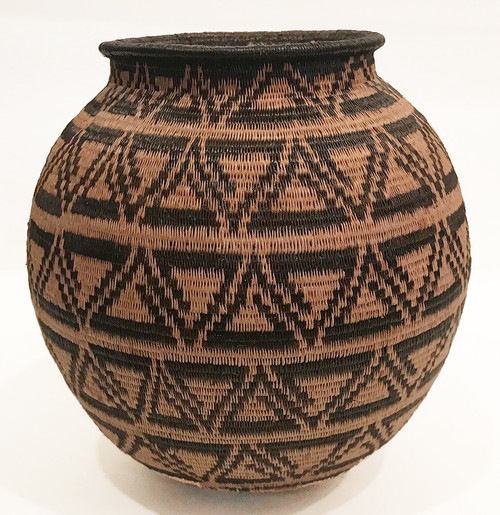 "Handmade Natural Fiber Wounaan Basket 10 Panama  (5.25"" tall x  5.5""wide)"