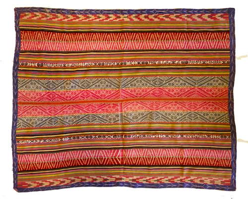 """Handwoven Woolen Blanket Manta 4  Peru (44"""" x 54"""")"""