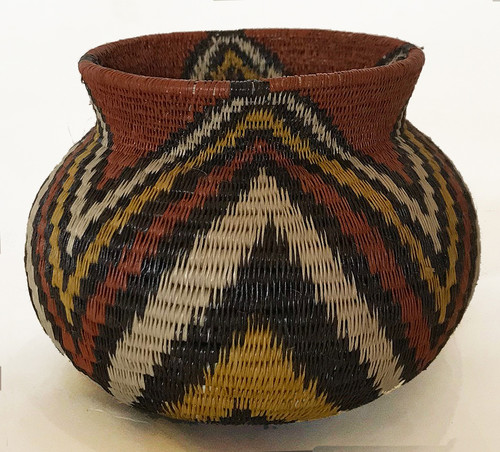 "Handmade Natural Fiber Wounaan Basket 5( Panama  (2.5"" tall x  3.75""wide)"