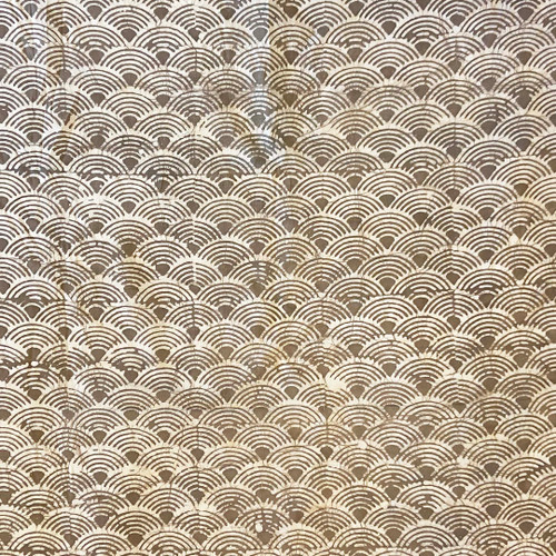 Handmade Batik Natural  Dyed Cotton Fabric Taupe White India