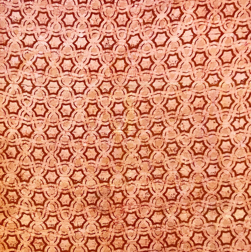 "Handmade Batik Natural  Dyed Cotton Fabric B India (45"" wide)"