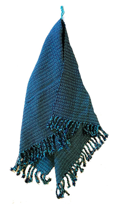 Handwoven Cotton Blue Hand Towel Guatemala