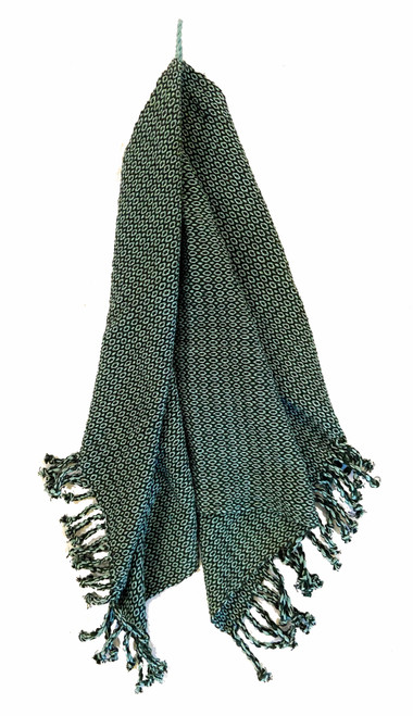 Handwoven Cotton Hand Towel Green Guatemala