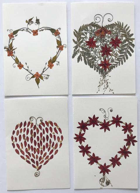 Handmade Dried Flower Notecards El Salvador