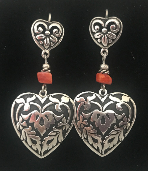 Handmade Silver and Shell Earrings Peru