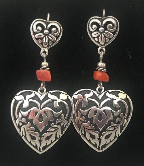 Handmade Silver and Shell Earrings Peru