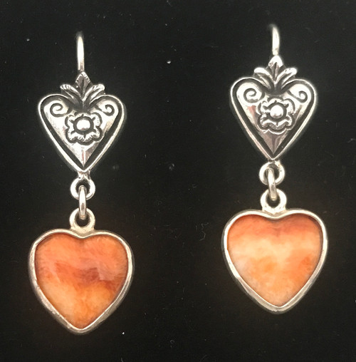 Handmade Silver and Oyster Shell Earrings Peru