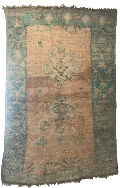 """Handwoven And Hand Knotted Vintage Vintage """"Tazenakht"""" Pile Rug Morocco (66""""x 98"""")"""