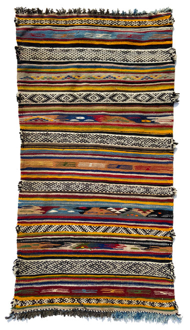 Handwoven Map Tapestry Wool Rug Morocco 27 x 51 indigo blue, camel, red, burgundy, cream, charcoal, bright saffron, oatmeal, lime green, leaf green, light blue, natural grey fleece, dark chocolate brown, olive, and brick