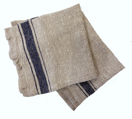 Woven linen hand hand towel Lithuania linen color with stripe