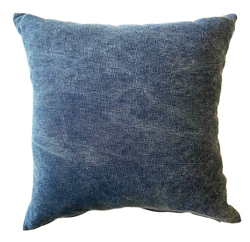 "Handwoven Indigo Dyed Cotton Pillow Thailand (20"" x 20"") Shades of Indigo blue"