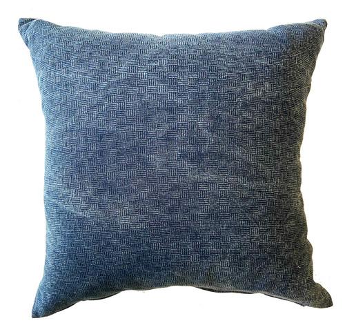 """Handwoven Indigo Dyed Cotton Pillow Thailand (20"""" x 20"""") Shades of Indigo blue"""