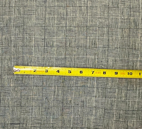 """Handwoven Organic Cotton Green and White Fabric India (45"""" wide)"""