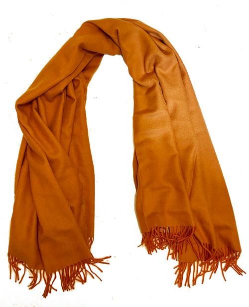 """Fine Baby Alpaca Throw Peru ( 53"""" x 68"""") rich burnt orange"""