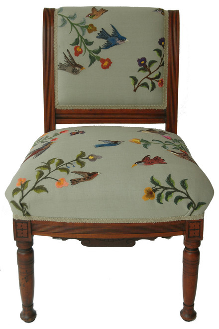 Handwoven and Embroidered Custom Chair