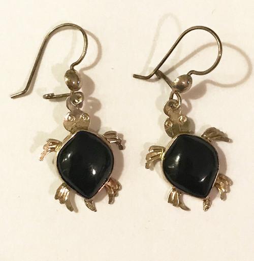 Handmade Jade Turtle Earrings Guatemala