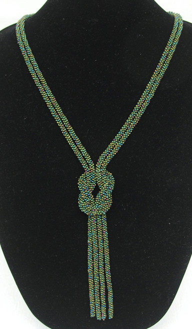Handmade Loden Beaded Bolo Necklace Guatemala