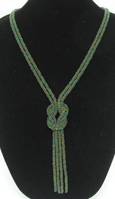 Handmade Loden Beaded Bolo Necklace Guatemala