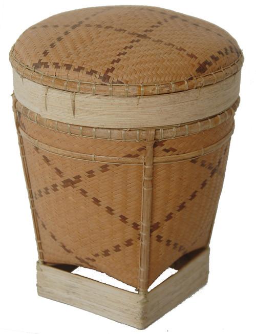 "Handmade Traditional Tingkep Basket 5 Phillippines (5.5"" x 7"")"