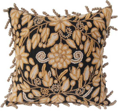"""Peru Woolen Hand Woven and Embroidered Pillow (18""""x18"""")"""