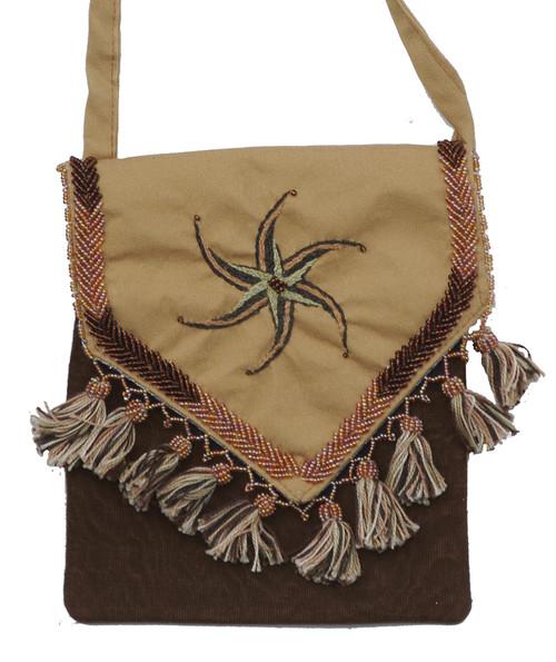 "Handmade Embroidered Bedouin Shoulder Bag 4 (7"" x 7"")"