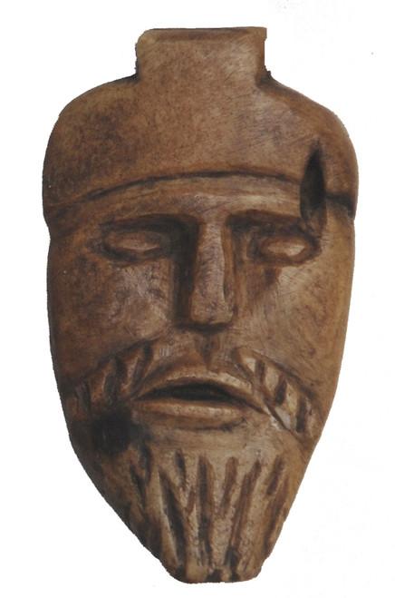"Hand Carved Folk Art Bone Pendant Guatemala (1.25"" x 2"")"